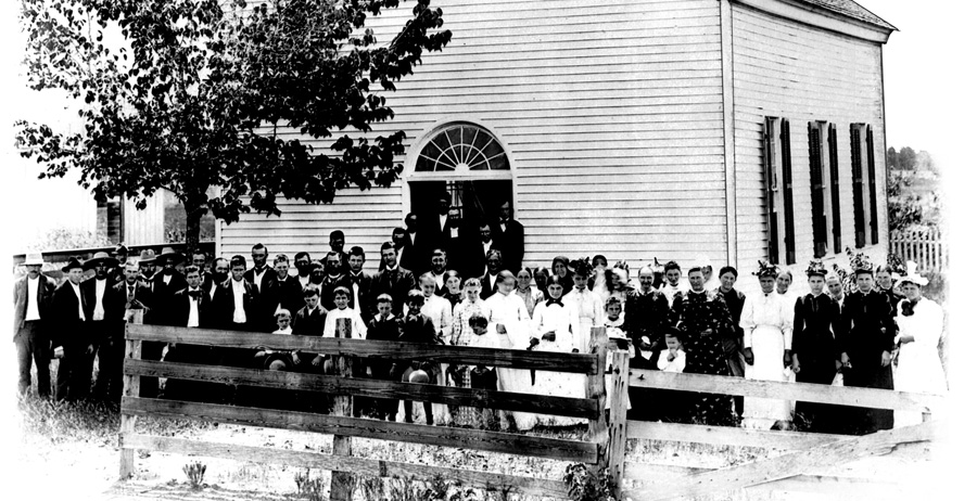 Fayetteville Brethren Church, old congregation photo